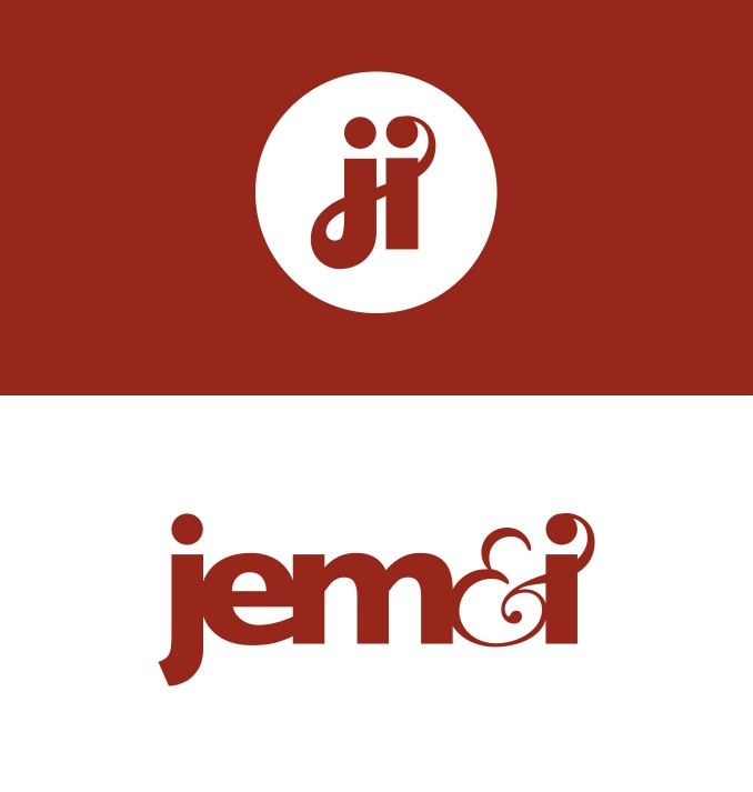 Brand design and custom ligature. Jem&i.